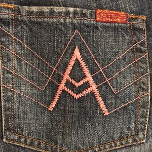 """7FAM 7 For All Mankind Pink """"A Pocket"""" Jeans"""